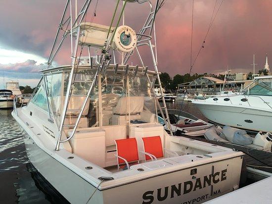 Newburyport, MA: Storm passing the harbor