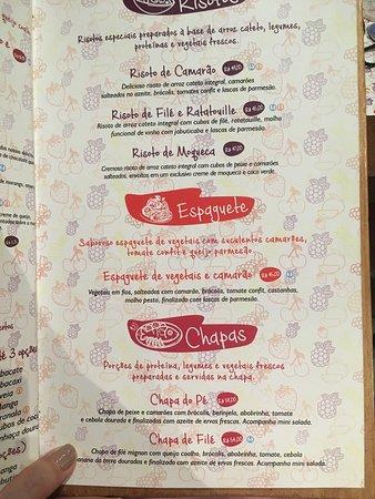 Direto do Pe: Cardápio Risotos, Espaguetes e Chapas.