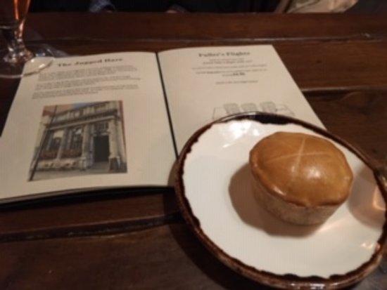 My appetizer: the Chicken Tikka Masala, coconut & coriander mini pie.