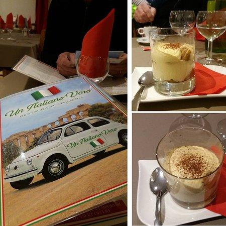 Saint-Privat-des-Vieux, فرنسا: Spritz en apéritif, Pizza Napoli et Pizza Romana, Tiramisu classique en dessert, un café comme en Italie :)
