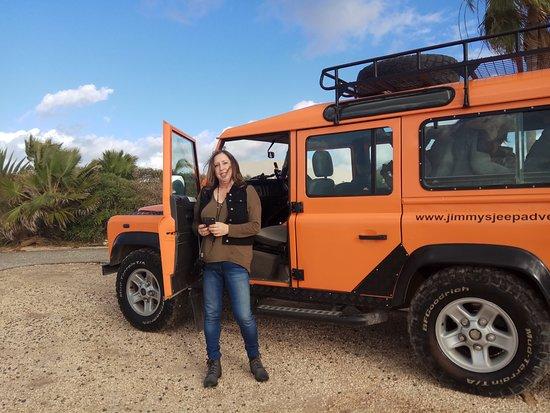 Paphos, Cypern: זוגתי והג'יפ