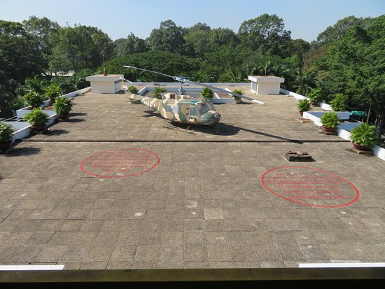 Rooftop helicopter pad of Reunification Palace in Saigon (HCMC)