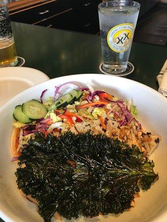 viet namese salad with AMAZING KALE SLAB