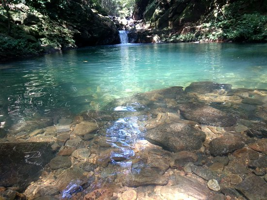 Lai Chau, Vietnam: a natural swimming pool. It is on the way of Pu Ta Leng Trekking