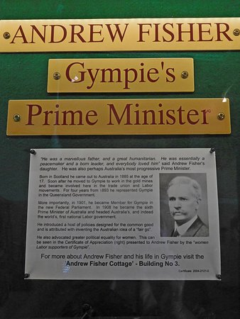 Gympie's Prime Minister.