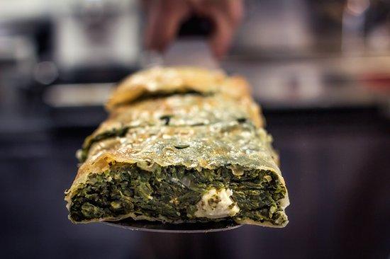 Spinach&feta strudel