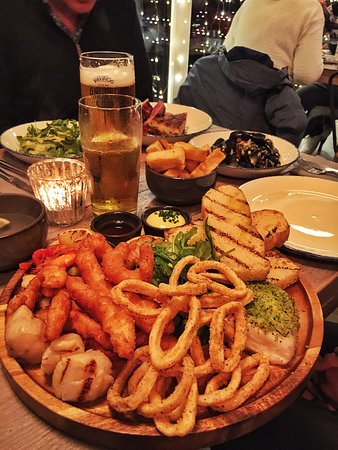 Valley, UK: Seafood platter