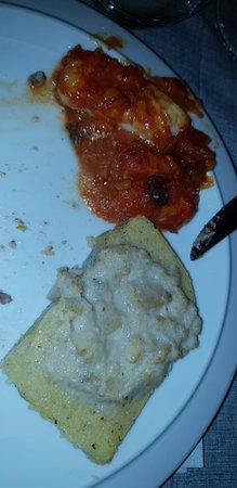 Merluzzo e polenta con baccalà