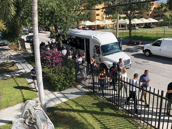 Tour guests arriving in Historic Overtown.