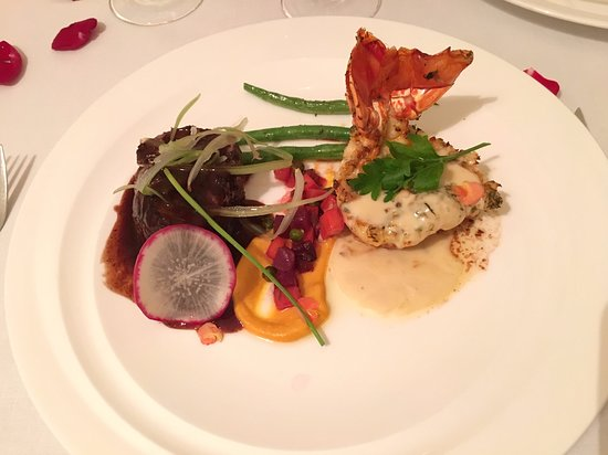 Finest Playa Mujeres: Filet Mignon and Lobster Tail at Le Petit Plaisir