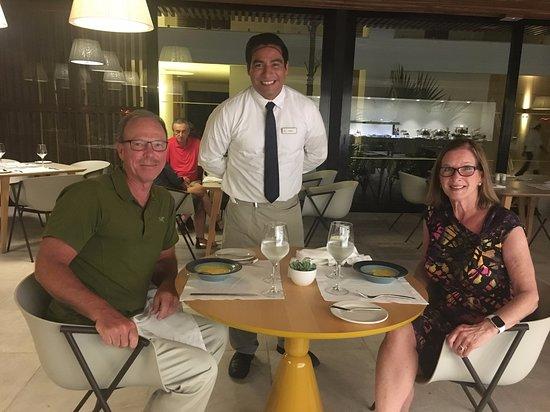 Finest Playa Mujeres: Waiter Charly at Seaside Restaurant