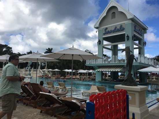 Sandals Ochi Beach Resort: This is where all the action is