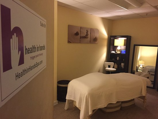 One of the rooms at Health in Hands Spa in Montclair, NJ. Visit one of their spa/massage near you.