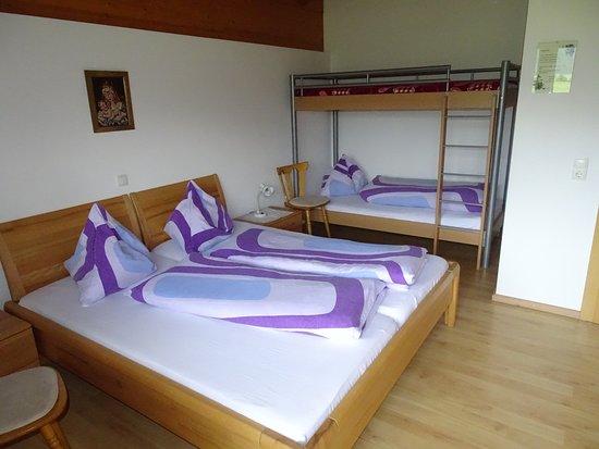 Waldschonau: Schlafzimmer Ferienwohnung Gartenblick