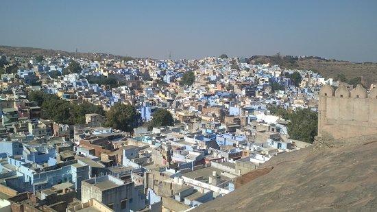 Walk in Blue City