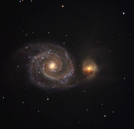Fregona, Italien: Una delle galassie più famose (M51) fotografata col nostro telescopio da 61 cm