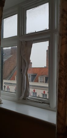 Cold air coming through window had to place towel there