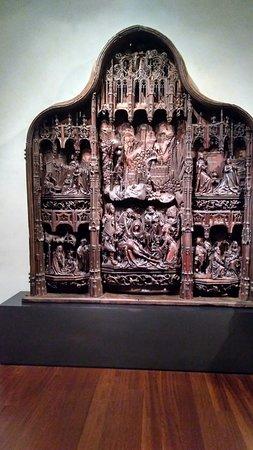 Pequeño retablo de la vida de la Virgen