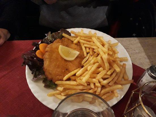 Scaloppina con patate fritte