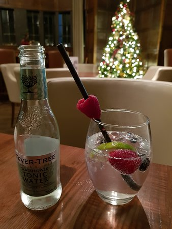 Fabulous Gin and Tonic at the hotel bar. Special recipe highly recommended #lovegin #blueberry