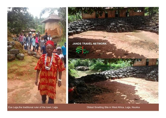 This picture shows the oldest Smelting Site in West Africa. It is situated at Lejja in Nsukka, Enugu State. The picture also shows Eze Lejja, the traditional ruler of the town (Lejja).