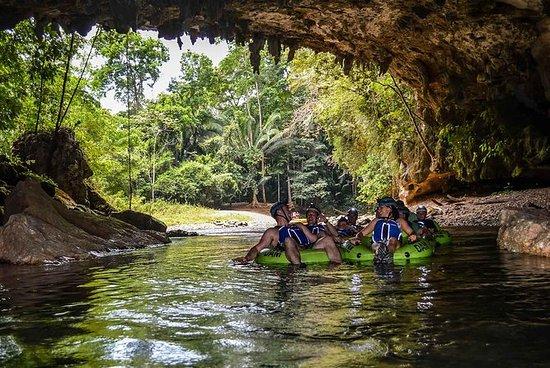 Cave Tubing y Treetop Zipline Shore...