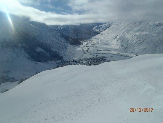 Getting closer to Zermatt inthe valley.