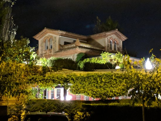 El Celler de Can Roca: The restaurant from a distance, after service (around 7 PM).