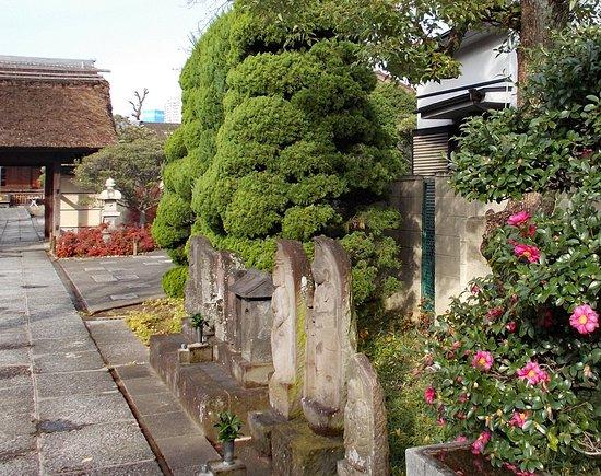 Tamonji Temple: 山門前の地蔵様