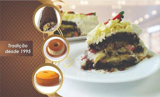 Aqui você encontra deliciosos bolos caseiros, sobremesas, tortas, bolos confeitados.  Venha nos fazer uma visita