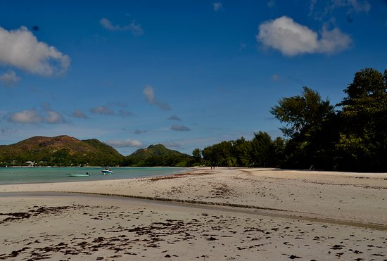 Praslin Island, Seychelles: View from one of the sides of the beach