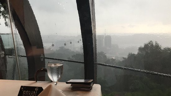 Mount Faber: Rainy view