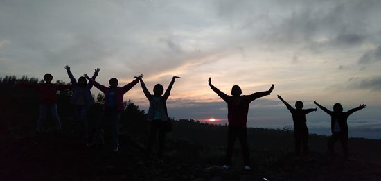 Traveller Group got Sunrise on Mt. Merapi volcano