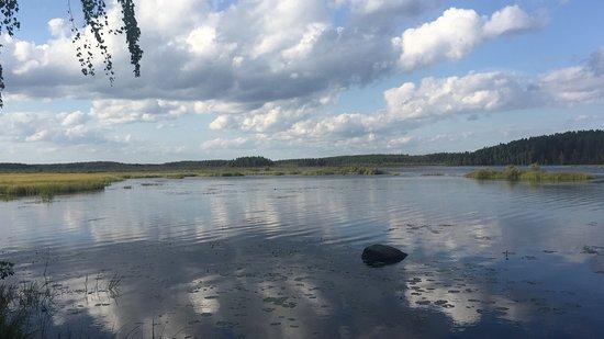 Ilomantsi, Finlandia: View at the campside
