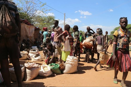 Bonga, Ethiopia: Tribal markets in Omo valley