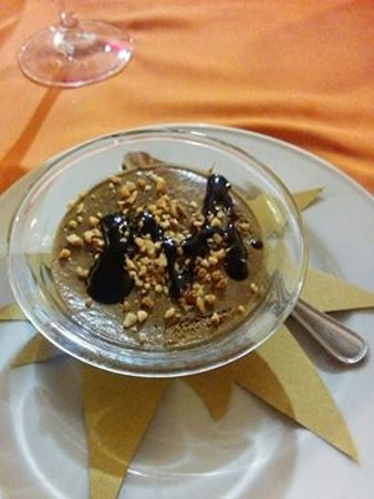 San Marcello, Italy: Dessert: mousse al nero di malto
