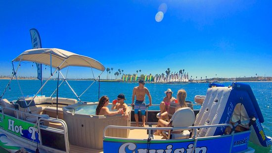 Rent a slide for either of your San Diego Hot Tub Boats, from Hot Tub Cruisin.