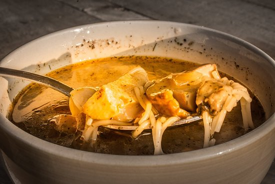 soup with wild mushrooms