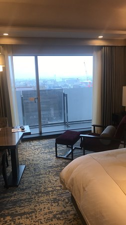 Hotel Granvia Kyoto: Room with view to the South in the rain