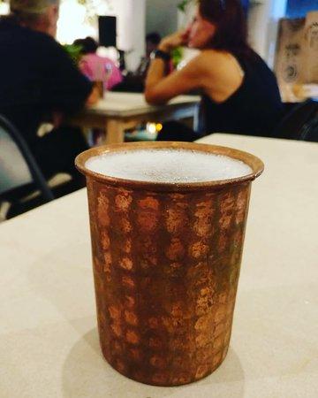 Rasa Bistro: Copper glass