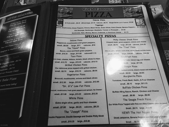 Connellsville, PA: Pizza menu