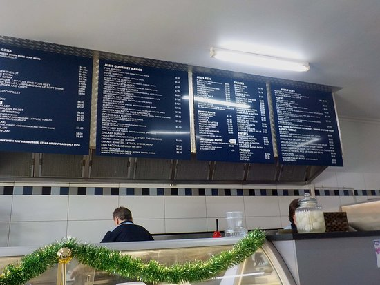 Cooking area and price list