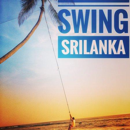 CoCoBay Unawatuna: Swing with rope Dalawala beach Unawatuna Srilanka