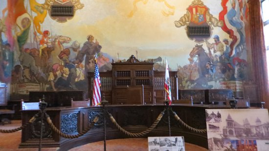 One of the many murals inside the Courthouse.