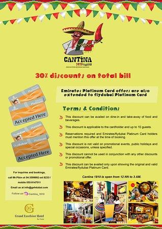 Emirates Platinum and flydubai Platinum cards accepted here