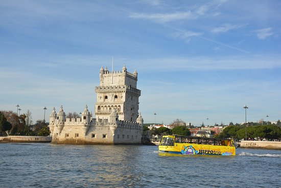 90min Amphibious Sightseeing Tour in Lisbon: Hipo next to the Belém Tower