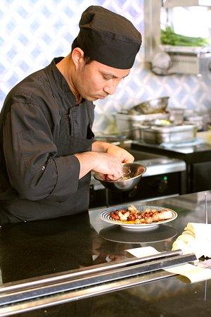 Chef preparing 'Pulpo'