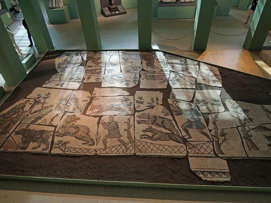 Sala con mosaici antichi