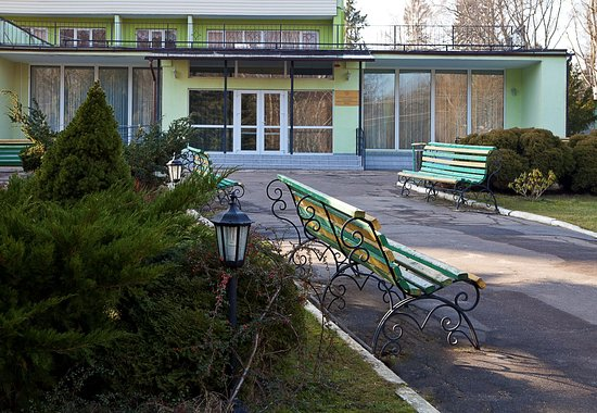 """Otradnoye, Rússia: С широких балконов  центра """"Мечта"""" открывается прекрасный вид на лесопарковую зону и территорию отдыха."""