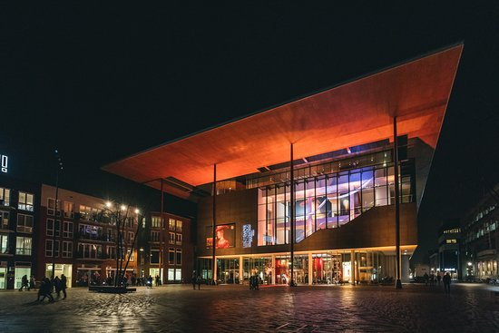 Leeuwarden, The Netherlands: Fries Museum by night